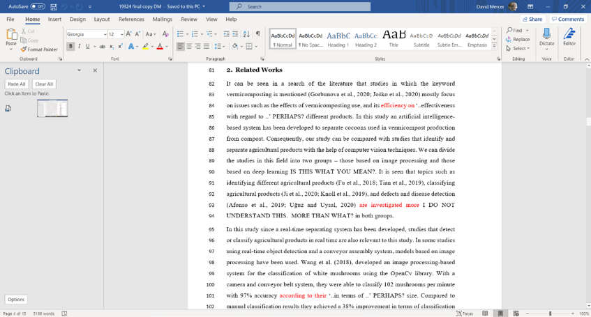 Proofreading Final Copy Example